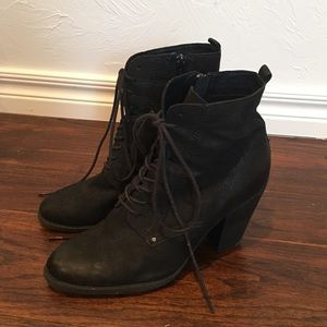 ALDO : lace-up heeled booties